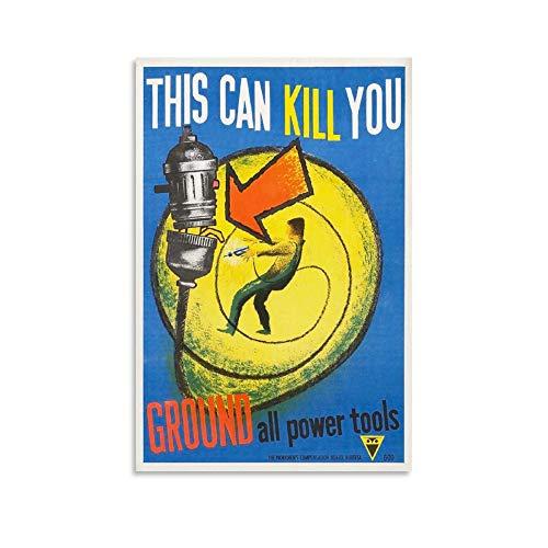 xingqiwu Poster mit Beschichtung, Arbeitssicherheit, Umwelt- und Gesundheitsförderung, Leinwand-Kunst, Poster, Wandkunst, Bild, Druck, moderne Familie, Schlafzimmer, Dekoration, 20 x 30 cm