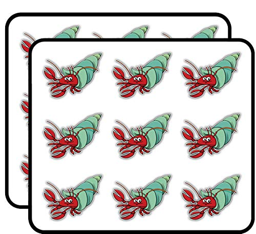 Funny Hermit Crab Cartoon 2' 18 Pack Planner Calender Scrapbooking Crafting Stickers