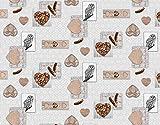 ecosoul Mantel de hule de Navidad de madera, búhos, corazón, plumas, gris, marrón, protección...
