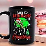 Cuando estuvo muerto por dentro, pero es el esqueleto de Navidad Dabbing Fiesta de vacaciones de Navidad Taza de cerámica Taza gráfica Tazas de café Tazas de té Negras Tops de té Custom Novelty 11 Oz