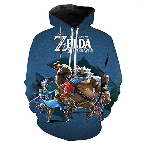 Sudadera con Capucha niño Kid's/Youth 3D Printed Novelty Hoodies The Legend of Zelda Hooded Sweatshirt Teen Boys Girls Pullover Hoodies-WY_3XL