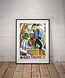 Rac76yd Bretagne Bretagne Reiseposter Bretagne Poster