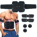 Estimulador Muscular Eléctrico, Ems Estimulador Muscular Abdominal Smart Cinturón De Cintura Recargable Azul Para Cinturones De Masaje Para Brazos Y Muslos Mujer Hombre