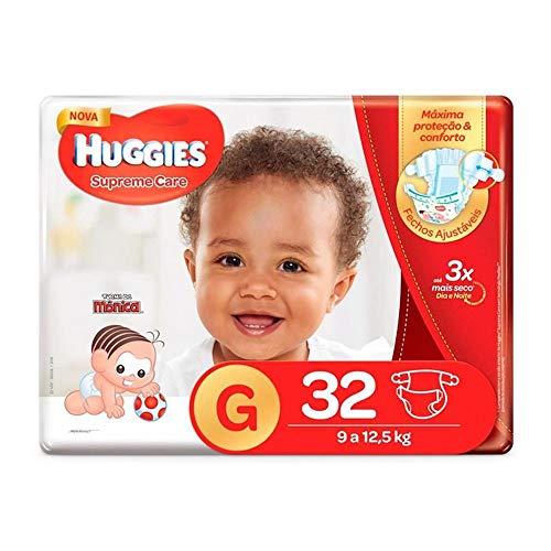 Fralda Infantil Descartável Monica Huggies Supreme Care Mega G 32 Unidades