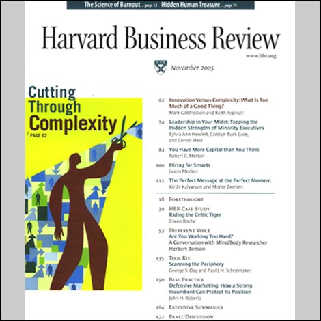 Harvard Business Review, October 2002 cover art