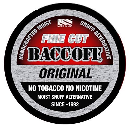 BaccOff, Original Fine Cut, Premium Tobacco Free, Nicotine Free Snuff Alternative (1 Can)