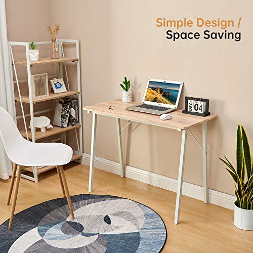 Coavas Schreibtisch Klein Computertisch Einfach Modern Büro Arbeitstisch 2
