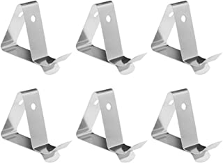 UPKOCH Stainless Steel Thermometer Holder Probe Clip Kitchen Tool for Fryer Coffee Pot 6pcs (Pattern 1)