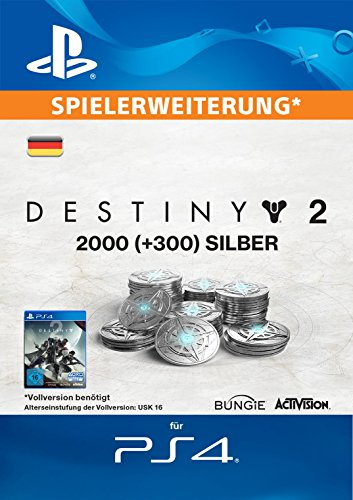 2000 (+300 Bonus) Destiny 2 Silber [PS4 Download Code - deutsches Konto]