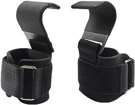 Abaodam 1 paar gietijzer gewichtheffen sportschool training haak grepen riemen handschoenen zware pols wrap bandjes voor t...