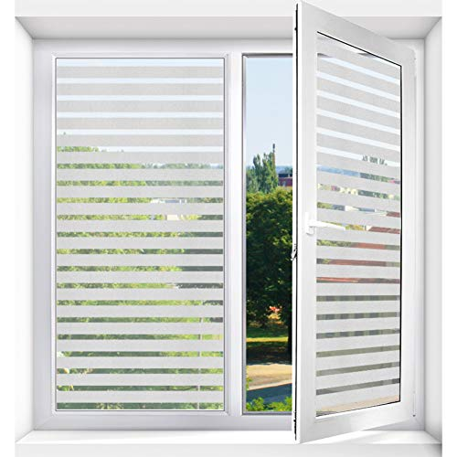 VIVOCFan Privacy Window Film, Anti-uv Frosted Decoratieve Window Sticker, GEEN lijm Statische Cling Vinly Voordeur Badkamer Glas Film