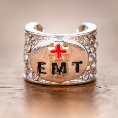 Charmed Crystal Stethoscope Charm - EMT