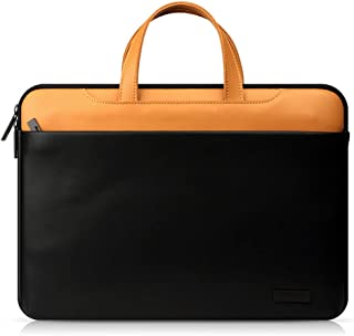 Rjj 15-inch Leather Laptop Bag Lady Business/Portable Briefcase Men's 39 * 26 * 35cm Exquisite