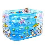 DFKDGL Baby Pool Aufblasbares Dickes warmes Kinder-Planschbecken mit elektrischem...