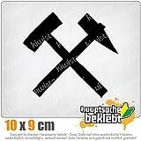 KIWISTAR Bergbau - Glück auf! - Kumpel 10 x 9 cm IN 15 FARBEN - Neon + Chrom! Sticker Aufkleber