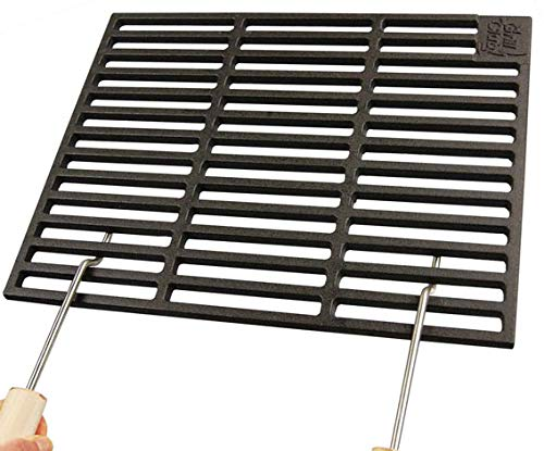 Grillclub Gusseisen Grillrost 48 x 48 cm + 2 abnehmbare Handgriffe Guss, Gasgrill, Rost, Grill Buschbeck