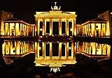 N/W Puzzle Jigsaw Rompecabezas De 1000 Piezas - Puerta De Brandenburgo En La Noche - para Niños Adultos Festival Regalo