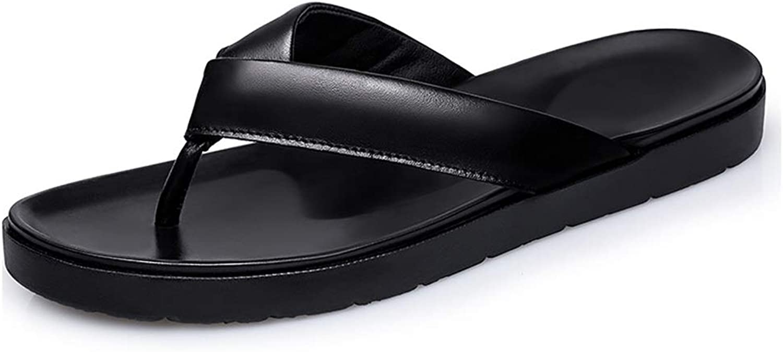 Flip flops Men's Flip-flops Fashion Slippers Casual Simple Light Classic Outsole Soft and Cool Beach Flip Flops flip flops (color   Black, Size   8.5 UK)