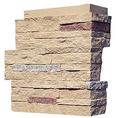NextStone Stacked Stone Outside Corner Sandy Buff 4 Pack