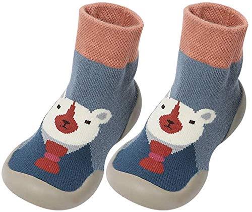 BOLANA - Calcetines antideslizantes con suela de goma para el suelo para bebés