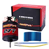 Hobbypark 27T Motor 540 Brushed 3.175mm Shaft Electric Engine w/Heatsink for 1/10 RC Crawlers Rock Racers Cars