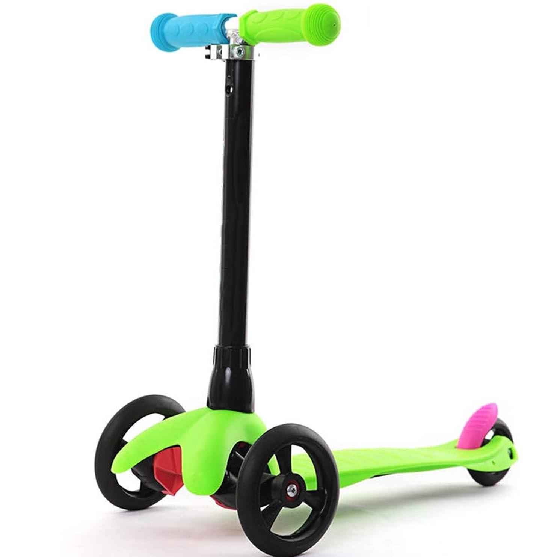 チャンピオンシップ宿命永遠にYUMEIGE キックボード キックスクーター スクーター高さ調節可能なPUホイール付きキッズスクーターキックスクーター耐荷重75 Kg 2?9人の子供用ギフト(ブルー、グリーン、ピンク、イエロー) 利用可能