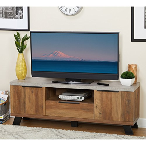 Simple Living Era TV Stand Accommodates TVs up to 66 inches
