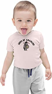 "Biker Baby T-shirt /""fils d/'un Motard Born To Ride/"" MOTO sons anarchy Cadeau"