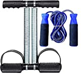 SIDHMART Tummy Trimmer and Skipping Rope Combo Burn Off Extra Calories Fat Burner Weight Loss Cardio Abs Exercise Equipment for Home Gym