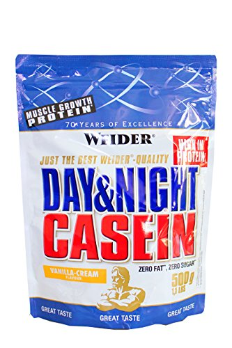 Weider Day & Night Casein Protein, Vanilla-Cream/Vanille-Sahne, 1er Pack (1x 500g), Beutel - 3