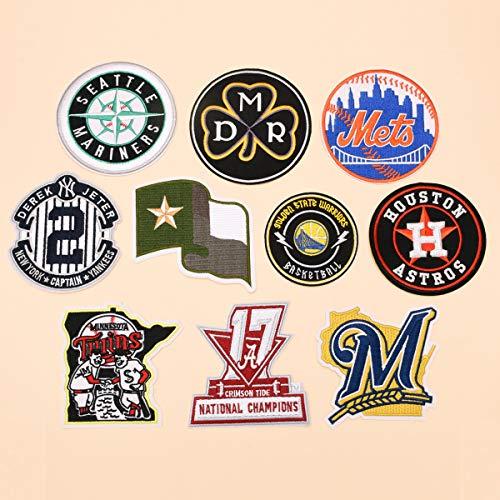 10pcs New York Yankees style Hierro en Parches,Pegatinas Bordado Bricolaje Decoración,para Ropa, Jeans, chaquetas, mochilas, faldas