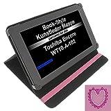 foto-kontor Tasche Strass Herz für Toshiba Encore WT10-A-102 Excite AT10-A-104 Book Style Schutz Hülle Buch pink