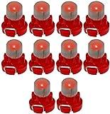 AERZETIX: 10 x Bombillas T3 LED 12V de salpicadero luz roja