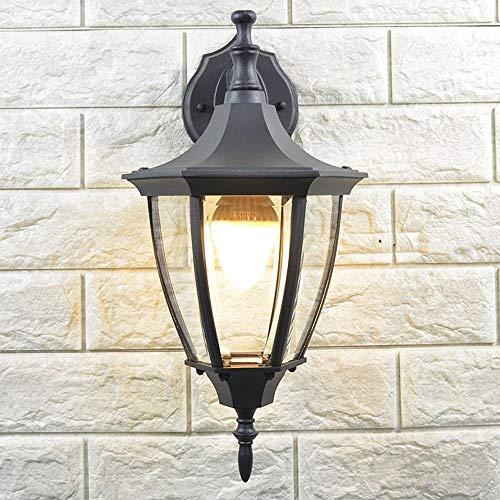 ZCCLCH Estilo europeo Focos retro Iluminación exterior impermeable Lámpara de pared al aire libre creativa Balcón al aire libre Patio Restaurante Sala de estar Aplique de pared Lámpara de mesa(bombill
