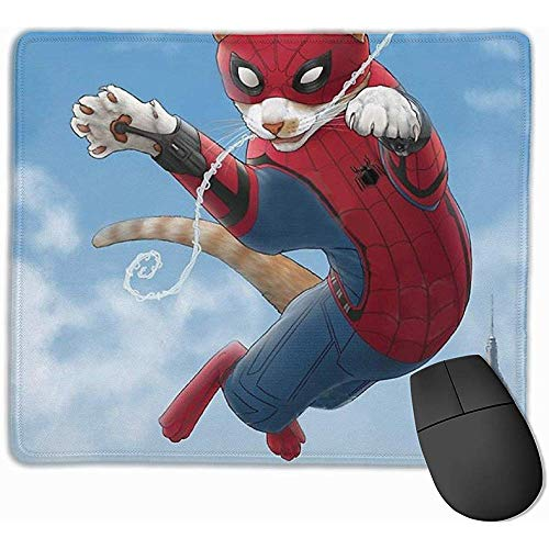 Alfombrilla de ratón Gaming Spider-Cat Gatos Divertidos Alfombrillas de ratón Alfombrilla Antideslizante