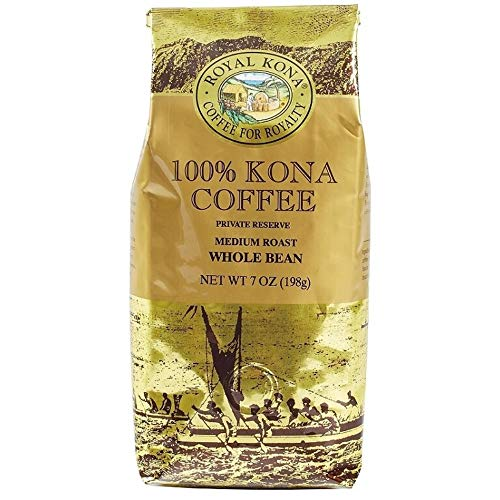 Royal Kona Whole Bean Coffee, 100% Kona, 7-Ounce Bag