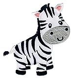 PatchMommy Zebra Patch Aufnäher Applikation Bügelbild - zum Aufbügeln oder Aufnähen - für...