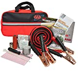 Lifeline AAA Premium Road Kit, 42 Piece Emergency Car Kit with Jumper Cables, Flashlight a...