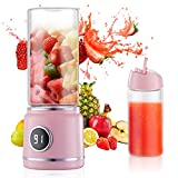 Mini Blender USB Rechargeable Portable Personnel Sans Fil Juicer avec 6 PCS Lames 15 Tasses pour Home Office Voyage En Plein Air Smoothie Rose