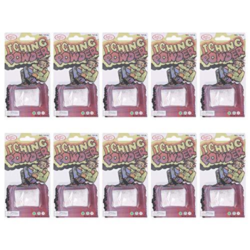 Happyyami 10 piezas paquetes de polvo con picazón ingredientes especiales broma broma truco gag broma divertida truco magia halloween parrt suministros