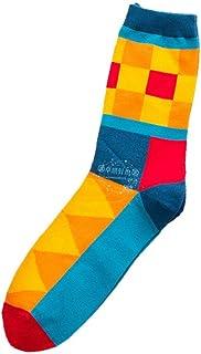 hombres y mujeres en calcetines largos calcetines largos calcetines de color degradado de diamante para hombres