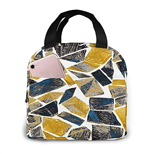 Zaino Artwork In Geometric Modern yle Lunch Bag Abract Watercolor ained Gss Lunch Box Reble Tote Bag For Work Office Travel Picnic