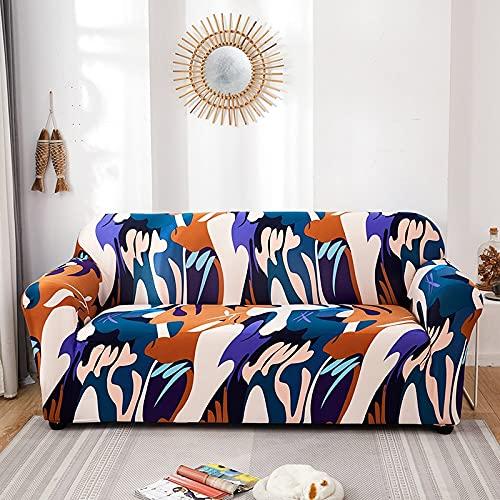 WXQY Fundas con Estampado Floral Funda de sofá elástica elástica Funda de sofá con protección para Mascotas Funda de sofá con Todo Incluido en Forma de L A11 4 plazas