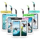 ProCase Pochette Étanche Téléphone Certifiée IPX8, 【Lot de 6】 Housse Étanche Universel pour Téléphone Jusqu'à 6.9 Pouces, iPhone 11 Pro Max XS Max XR X 8 7 6 Plus, Samsung S20 S10 S9, Huawei P30 P20