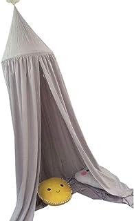 SUPVOX princesa cama dosel castillo jugar tienda mosquitera rincón de lectura lienzo de algodón para niños dormitorio niño bebé