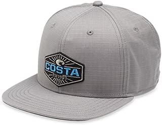 Costa Rican Neptune Ripstop Flat Brim Hat, Gray