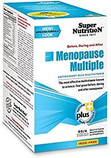 SuperNutrition, Women's Menopause Multi-Vitamin, High Potency, Iron-Free, 8/Day Tablets, 30 Day Supply