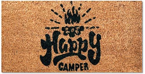 Bestlivings Fußmatte Kokos Schuhabtreter 25x50cm (Happy Camper), weitere Motive erhältlich