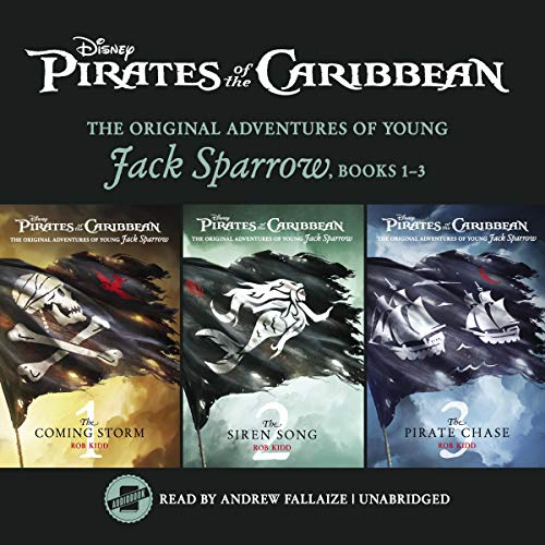 Pirates of the Caribbean: Jack Sparrow Books 1-3 audiobook cover art