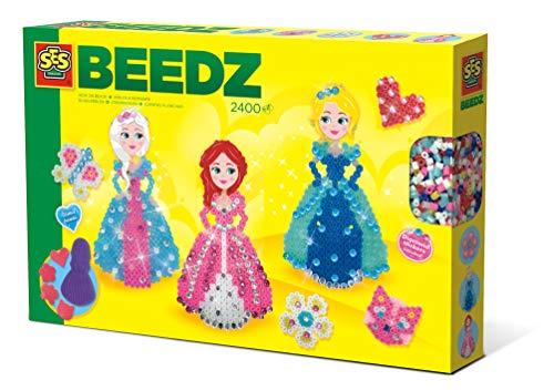 SES Creative 6269 Beedz – Bügelperlenset Diamant Prinzessinnen, Diverse Farben